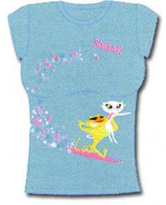 6111ccf0fcf02 Authentic FRENCH KITTY white Cat T-shirt SHAKA Surf Aloha Hawaii tee FREE  SHIPP -