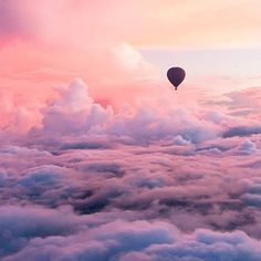 Above the pink clouds