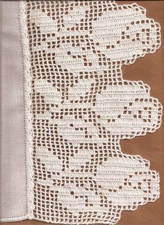 Firdevs's media content and analytics Crochet Edging Patterns, Crochet Lace Edging, Crochet Borders, Crochet Cross, Lace Patterns, Crochet Home, Love Crochet, Filet Crochet, Crochet Doilies