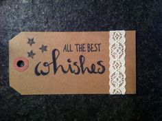 Tag calligraphy 'The best wishes'