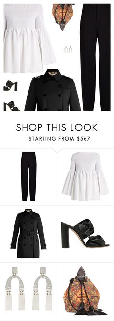 """Untitled #4960"" by amberelb ❤ liked on Polyvore featuring Chloé, The Row, Burberry, Casadei, Proenza Schouler and Yves Saint Laurent"