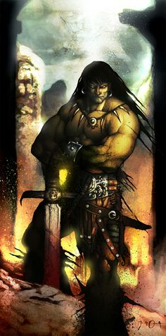 A fictional sword and sorcery hero that originated in pulp fiction magazine is Conan the Cimmerian, also known as Conan the Barbarian.