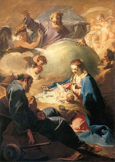 The Nativity with God the Father and the Holy Ghost, Giovanni Battista Pittoni the younger (1740)