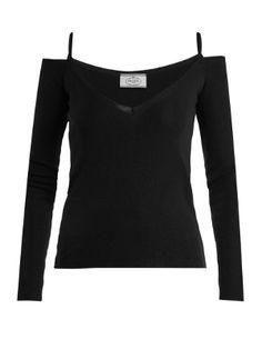 V- neck cashmere-blend top | Prada | MATCHESFASHION.COM