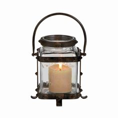 Wow your guests with this simple and unique metal glass lantern with lettered inscriptions. The class of old world antiques and the cozy atmosphere created by this lantern is unmatched.