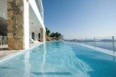 Villa Sapphire is a luxury villa with private pool situated on the most stunning coast of Crete offering a truly original Cretan landscape a. Rent A Villa, Crete Island, Villa With Private Pool, Throughout The World, Travel Agency, Luxury Villa, Places To Go, Swimming, Pools