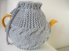 TeaPot Cozy Knitted tea cosy grey colorChristmas  by IskaCreations, $21.00