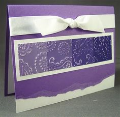 cute card using paint chips!