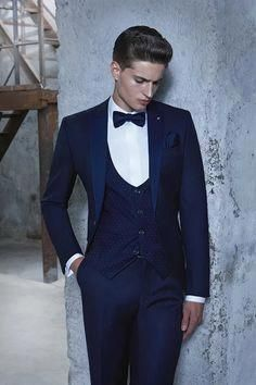 Latest Coat Pant Designs Navy Blue Men Suit Slim Fit Formal Custom Groom  Prom Dress Tuxedo 3 Piece Blazer Jacket Man Masculino Z  LatestMensWear 452123fa648