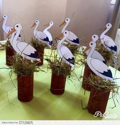 Spring Crafts For Kids Creative Arts And Crafts, Diy Crafts For Kids, Paper Art, Paper Crafts, Bird Crafts, Spring Crafts, Preschool Crafts, Paper Flowers, Activities For Kids