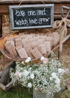 Watch love grow! Living plants are a great favor that guests can take home and enjoy long after the wedding is over. Wedding Favors, Summer Wedding Ideas, Unique Wedding Favors #WeddingFavorsCheap