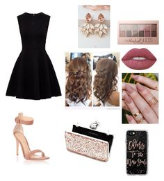 """""""Night out"""" by ashlyn-burchette on Polyvore featuring Lime Crime, Maybelline, Ted Baker, Gianvito Rossi, Miss Selfridge and Casetify"""