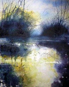 Pete Gilbert print 'Beaulieu River at Pottern Ford'