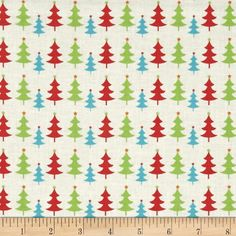 Fabric+Freedom+Christmas+Character+Little+Trees+Green from @fabricdotcom  Designed+by+Fabric+Freedom,+this+cotton+print+fabric+is+perfect+for+quilting,+apparel+and+home+decor+accents.+Colors+include+red,+green,+aqua,+orange+and+white.+