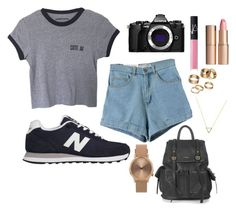 """#danyboo "" by kokostylz ❤ liked on Polyvore featuring New Balance, Olympus, NARS Cosmetics, Charlotte Tilbury, Topshop, Apt. 9 and Wanderlust + Co"