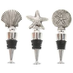 Check out this item at One Kings Lane! S/3 Assorted Seashore Bottle Stoppers