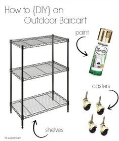 Hi Sugarplum | DIY Outdoor Bar Cart by hi sugarplum!, via Flickr