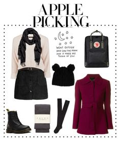 """I think apple picking is such a cute date idea "" by alternativexpunkxwhatever ❤ liked on Polyvore featuring Dr. Martens, Falke, Aéropostale, L'Autre Chose, Fjällräven and ASOS"