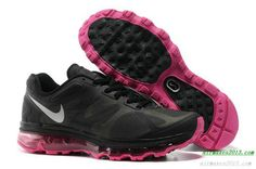 2012 Nike Air Maxes Girls Black Rave Pink Metallic Silver 487679 006