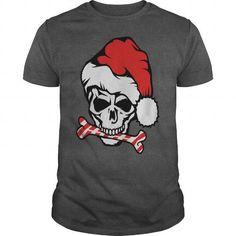 Cool Santa Claus Skull Polo Shirts T shirts