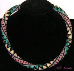 Häkelkette - Bead Crochet Rope - Folk