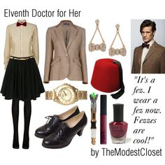 A collage from Polyvore - oh my - I'd actually do this. For real. (But not the fez)