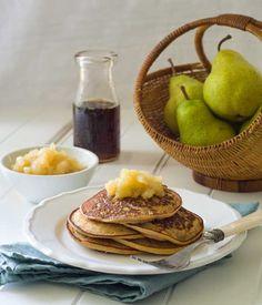 Gluten Free Pear Date Pancakes Recipe