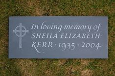 Cremation memorials, although restricted in size, can still be individual and unique. Here are some lovely examples. Flat Grave Markers, Flat Headstones, Headstone Inscriptions, Grief, Chalkboard Quotes, Graveyards, Memories, Random, Memoirs
