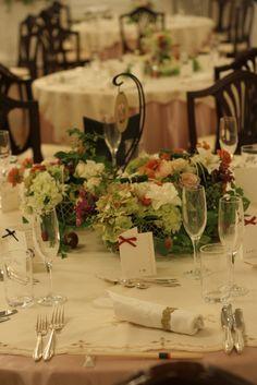テディベアとウエディングドレス 横浜国際ホテル様へ : ゲストテーブル