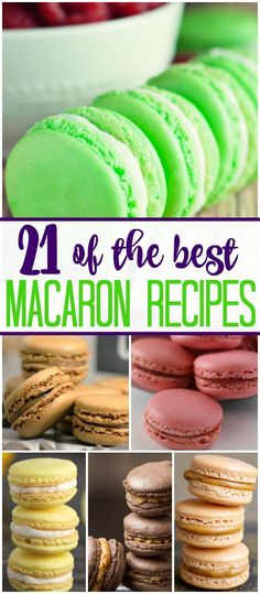 There is something about Spring that has me yearning for light foods and flavors. One of my favorite sweet treats? Macarons. Here is a collection of some of the best recipes - Nutella! Strawberry!