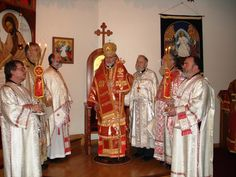 Ar. Bishop Joseph and clergy at St. John's in Eagle River, AK