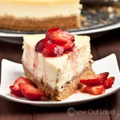 Perfect New York Style Cheesecake (no cracking or sinking on top) - Rich, thick, smooth, and creamy.