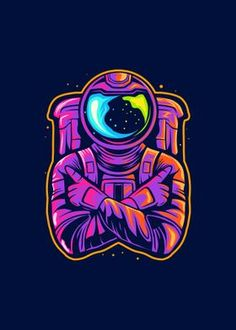 Metal Poster Astronaut And Space