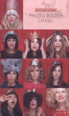 birthday crown photobooth crawl