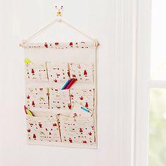 Zakka Hemp Cotton Navy Style Storage Bags  Hanging  Printing Multi Pocket Storage Bag Sn1559 – USD $ 14.99