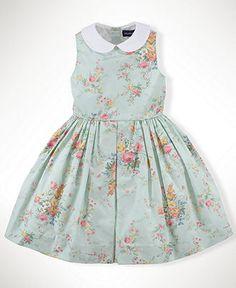 Ralph Lauren Kids Dress, Little Girls Floral Dress with Collar - Kids Shop All Girls - Macy's