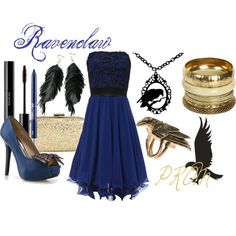 """Ravenclaw (Harry Potter) PROM"" by colorsgalore on Polyvore"