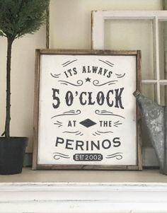 Always 5 O'clock Bar Sign – 18×21
