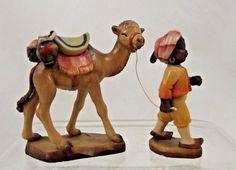 Anri Juan Ferrandiz hand carved wooden camel with little boy guide/jockey. In wonderful condition but the boy IS missing his staff. | eBay!