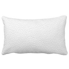 Picture of White Leather. Lumbar Pillow