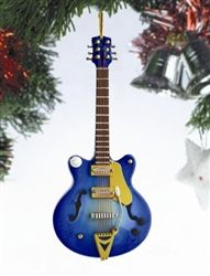 Blue Electric Guitar Tree Ornament hiddentreasuresdecorandmore