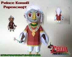Zelda Wind Waker Prince Komali Papercraft
