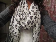 I have a brown leopard scarf and a black leopard scarf, but not a white one! That needs to change asap :)