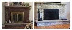 "Maybe not a ""Green"" home idea but I needed a spot to pin this. For those who have huge brick fireplaces that need updated."