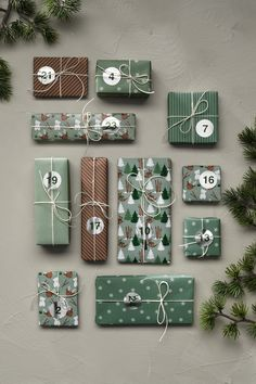 Here, you will find everything you need to make tons of lovely little parcels or your very own delightful Advent calendar. The 24 sheets are 30x30 cm, weigh 80 gsm, and are printed on one side – the back is white. Green theme with stickers with silver details. #DIY #panduro #advent #christmas #jul #adventskalender #julkalender #pakkekalender #julekalender Christmas Calendar, Advent Calendar, Christmas Diy, Green Theme, Green Gifts, Paper Folding, Gift Wrapping Paper, Hobbies And Crafts, Make Your Own