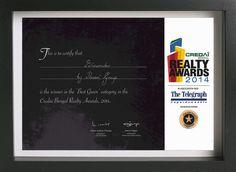 Biowonder- Winner of the Best Green category in Credai Bengal Realty Awards, 2014. #CredaiBengalRealtyAwards #Biowonder #Biophilic #CorporatePark #Kolkata #Honour #Award #TheTelegraph #BestGreen #GoGreen #GoGreenWithBiowonder