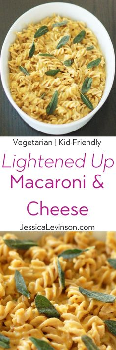 A lightened up version of every child's favorite pasta dish - Macaroni and Cheese. Made with reduced-fat cheese, pureed butternut squash, and whole grain noodles, this recipe makeover will satisfy all tastebuds, young and old. Get the vegetarian and kid-friendly recipe @jlevinsonrd.