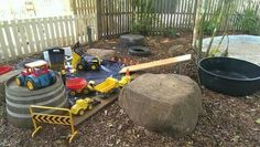 """Construction site at Milford Lodge ("""",) – Natural Playground İdeas Eyfs Outdoor Area, Outdoor Play Spaces, Outdoor Areas, Natural Playground, Backyard Playground, Playground Ideas, Outdoor Activities For Kids, Outdoor Learning, Outdoor School"""