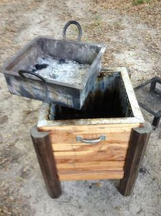 Cajun Microwave doubles as a fire pit