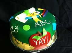 A graduation cake for someone completing and education degree!